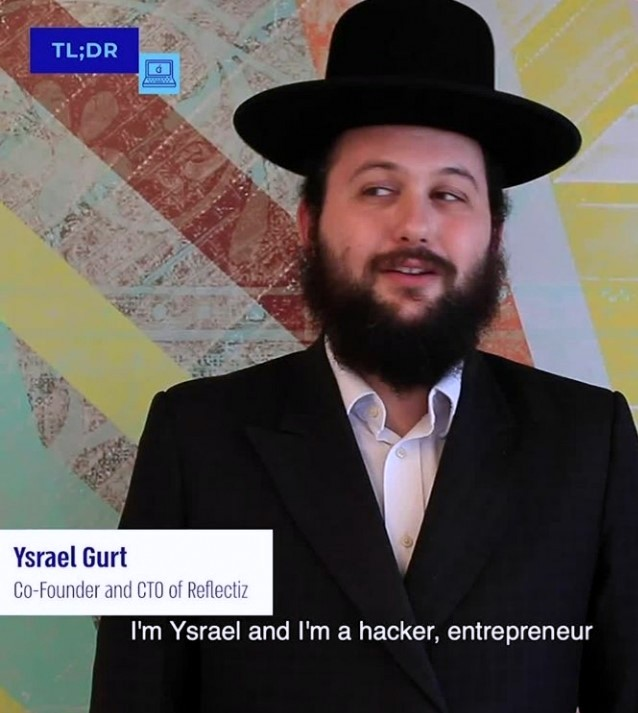 """This entrepreneur was named 23rd best hacker in the world by Google! Meet Ysrael Gurt, CTO of Reflectiz.""⁣⁠"