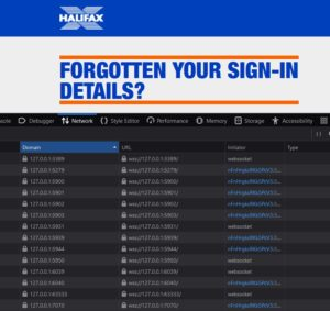 Halifax example of port scanning users' computers